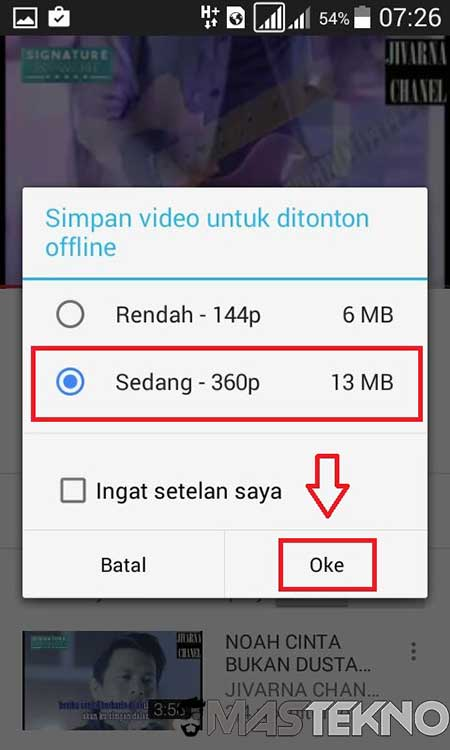 youtube offline simpan video