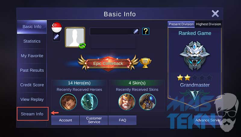 cara tayangan langsung mobile legends