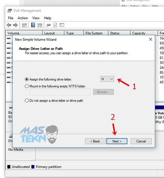 cara partisi harddisk di pc laptop untuk windows 10 8