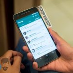 cara membuat story whatsapp di hp android background berwarna