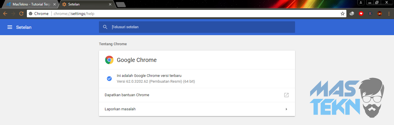 cara update google chrome 4