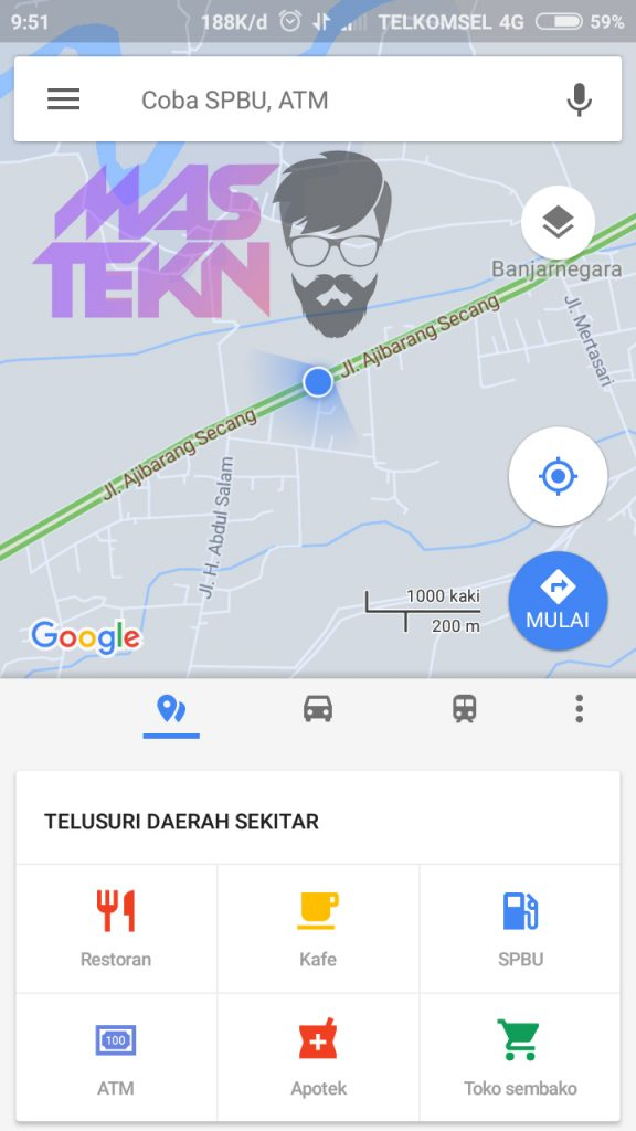 cara share lokasi google maps
