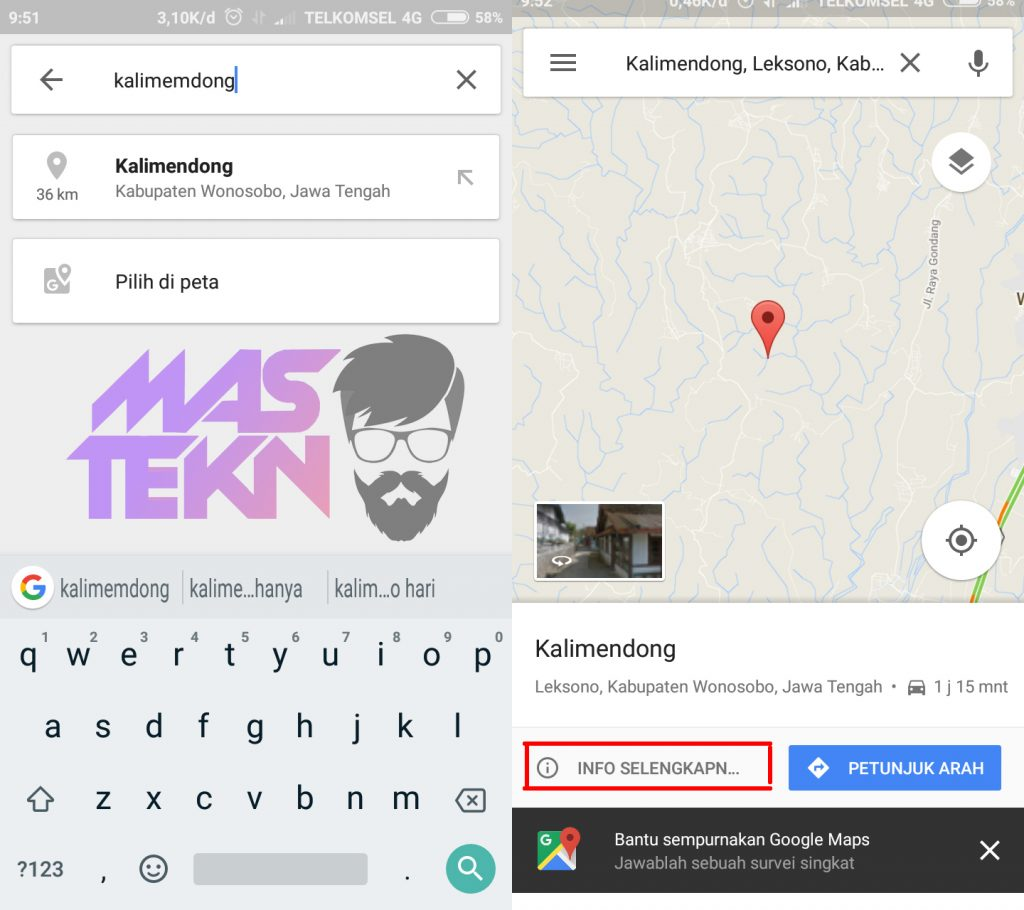share lokasi google map android