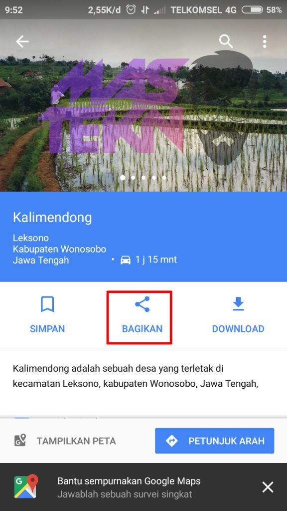 share lokasi di google map