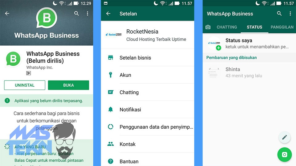 Cara download dan install whatsapp business