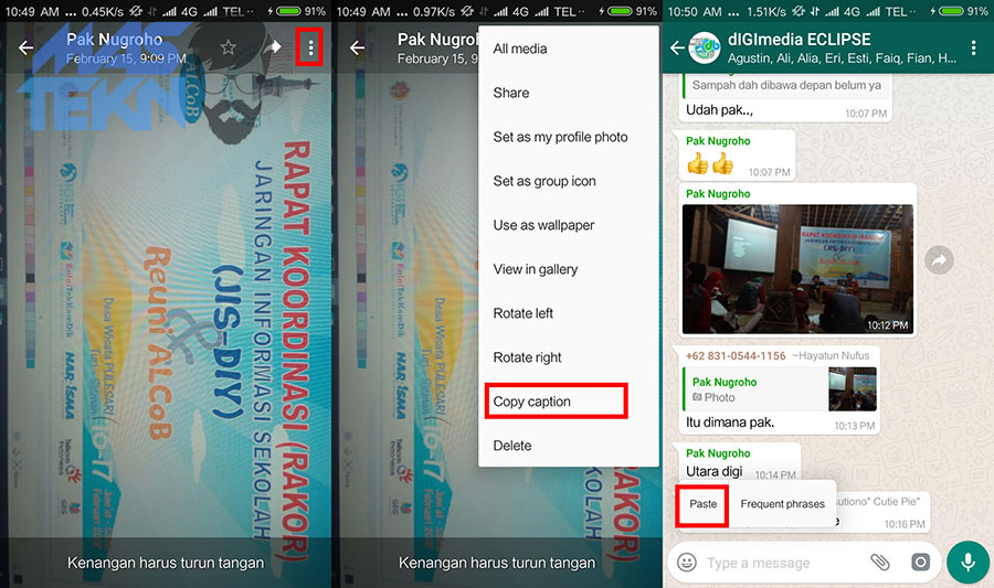 cara copy caption foto di whatsapp tanpa aplikasi 1