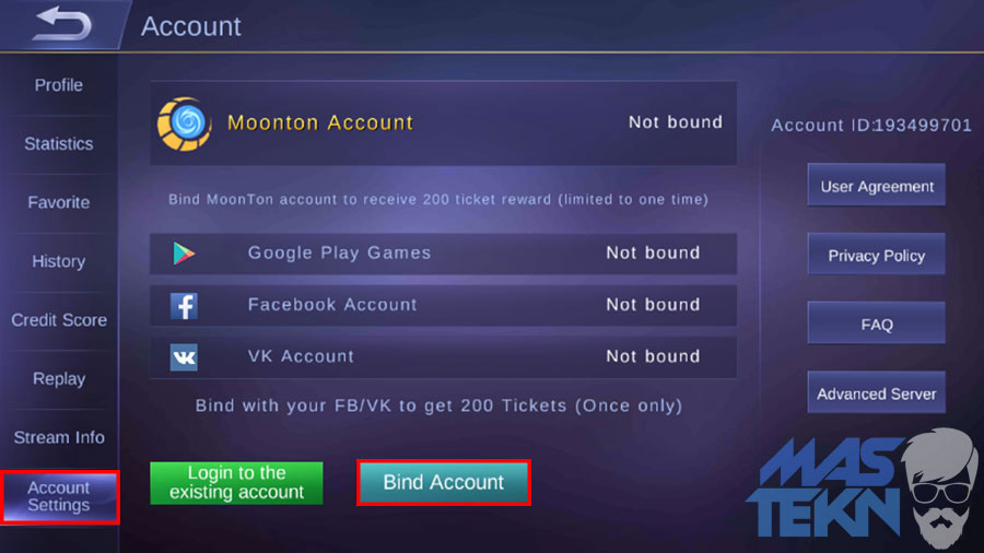cara membuat akun moonton di game mobile legends 1