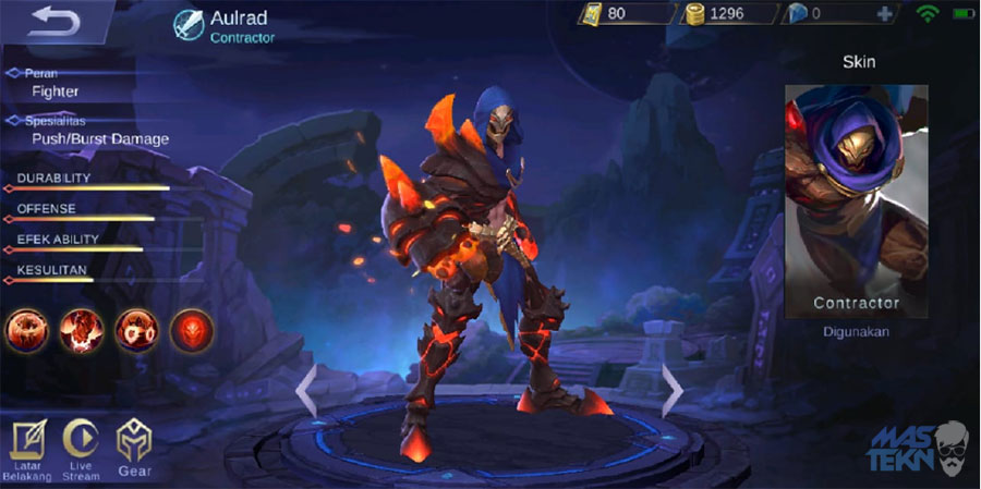 guide aulrad mobile legend build skill ability set emblem