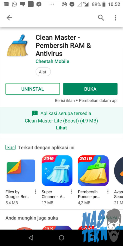 cara hapus file sampah whatsapp