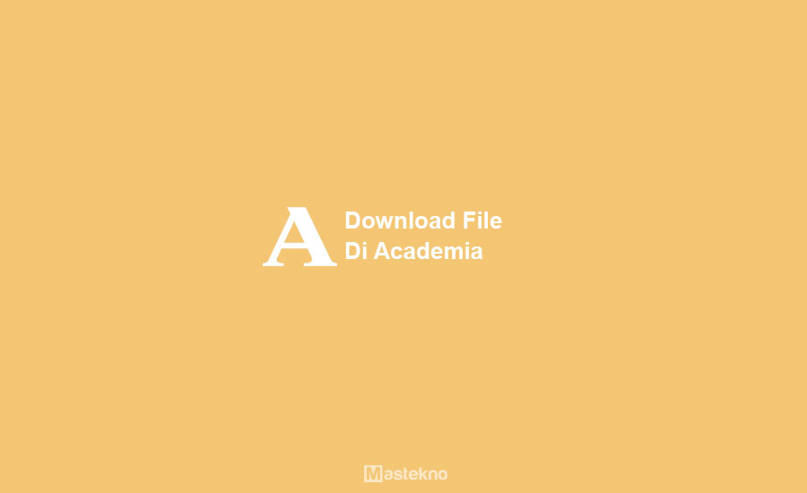 Cara Download File di Academia