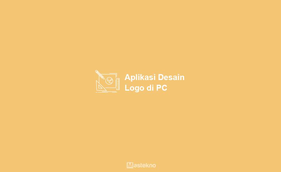 Aplikasi Desain Logo di Laptop