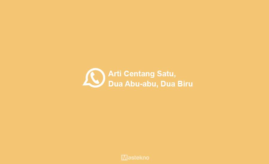 Arti Centang Satu, Dua Abu-Abu, Dua Biru di WhatsApp