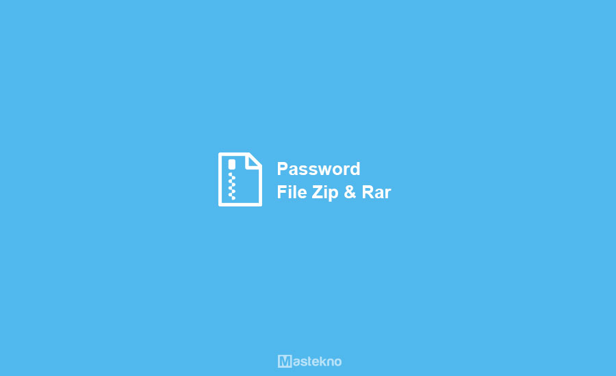 Cara Password File ZIP & RAR