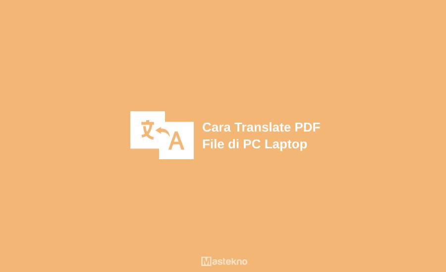 Cara Translate File PDF