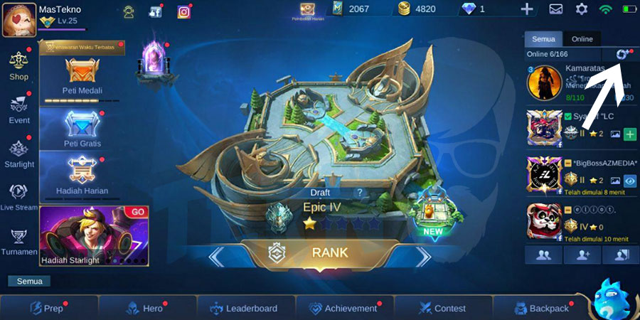 cara membuat group mobile legends
