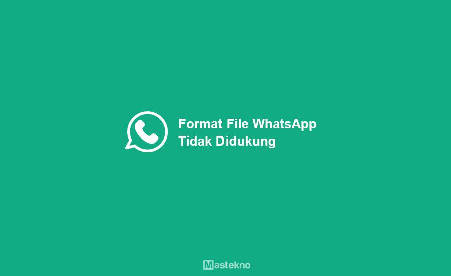 Format File WhatsApp Tidak Didukung