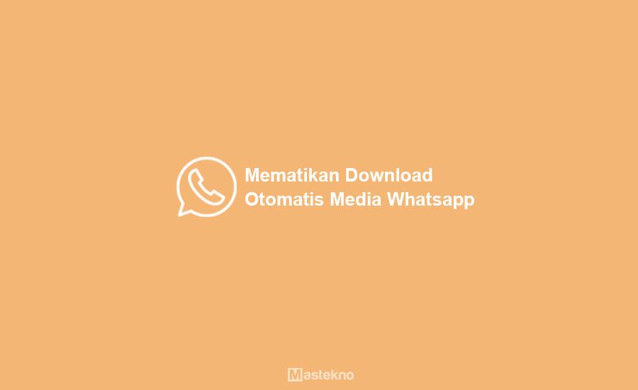 Cara Menonaktifkan Download Otomatis WhatsApp
